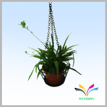 Metal outdoor plant flower display rack for hanging flower pot